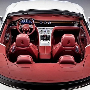Bentely Continental GT Convertible 2019, inside view