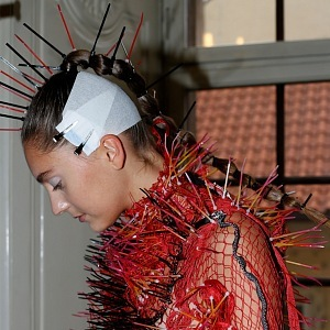 Special hairstyle at MBPFW