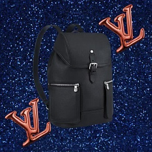 Practical leather backpack for mih