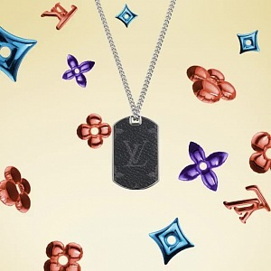 Necklace with monogram LV