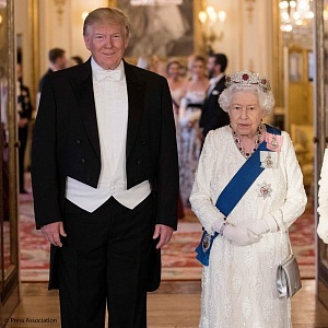 Trump and Queen Elisabeth