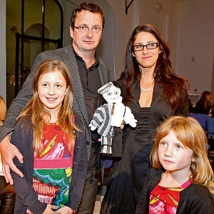 Veronika and Michal Viewegh with daughters